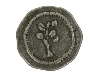 2 Rustic Tree 1-1/8 inch ( 30 mm ) Large Metal Buttons Antique Tin Color