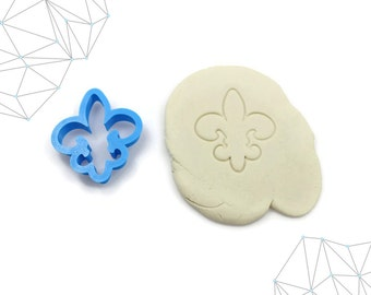 Fleur de Lis Cookie Cutter, Fondant Cutter, 3D Printed, #146