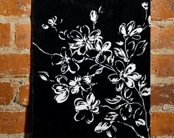 "floral painting, gouache painting, hand painting, wall art, home decor art, original painting, original art, fine art painting, 11"" x 14"""