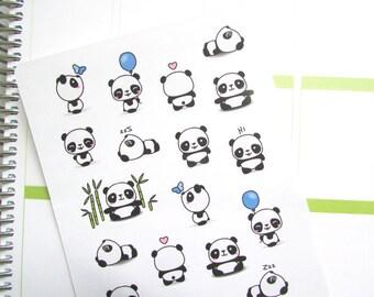 Pandamonium - Assorted Panda Stickers
