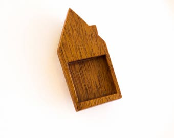 "House bezel tray fine finished hardwood - Varios wood types - 1"" - 25.5 mm cavity side - (H3-X)"