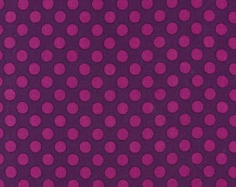 MICHAEL MILLER fabric CX1492-JEWE-D: Ta Dot Jewel purple with pink pea / Cut 50x55 cm