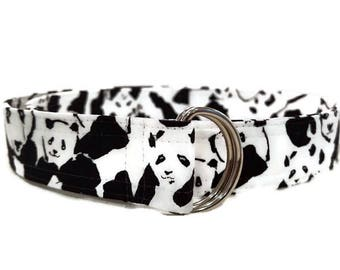Girl's Panda Print Fabric Belt