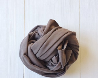 Newborn Knit Stretch Wrap, Photography Prop Taupe Brown