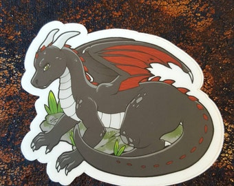 Black Dragon Sticker