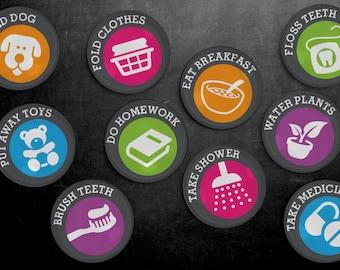 Chore Magnet Set - Chores, Magnetic Chore Chart, Chore Board, Household Tasks, Responsibility Chart, Chore Chart, Kids Chore Chart,