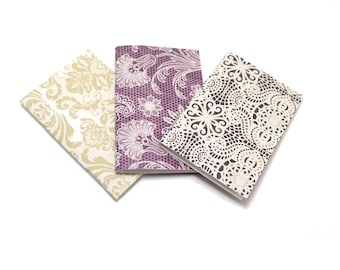 3 Mini Notebooks, 20 Unlined Pages, 3x2 Inches