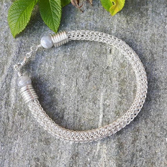 How To Make  Viking Wire Knitted Bracelet