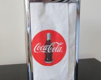 "Vtg 1992 ""Have a Coke"" Metal Napkin Dispenser! Retro Kitchen, Trailer, Country, Diner Decor"