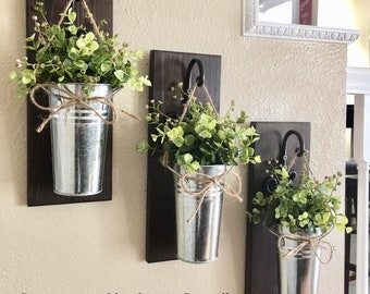 Rustic Wall Decor, Rustic Decor, Farmhouse Wall Decor, Wall Decor, Home Decor, Galvanized Wall Decor, Metal Wall Decor, Hanging Planter