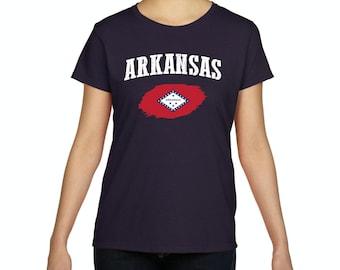 Arkansas State Flag State University of Arkansas Razorbacks Hogs  American Womens Shirts