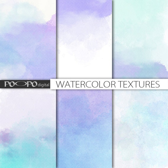 Watercolor texture digital watercolour papers scrapbook background watercolor texture digital watercolour papers scrapbook background ombre pastel blue purple hand painted paint canvas invites party gradient from stopboris Images