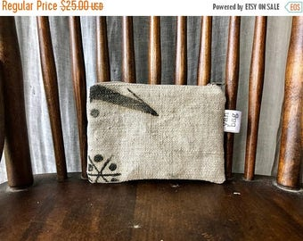 ONE - reconstructed antique grain sack extra small pouch