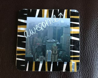 New York Photo Coaster Fridge Magnet