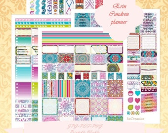 Printable Erin Condren Horizontal planner Weekly kit/ Instant Download / Weekly/ With Cut Files