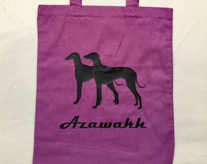 Canvas bag Azawakh silhouette