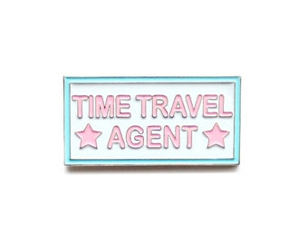 Time travel agent 30 Rock enamel lapel pin