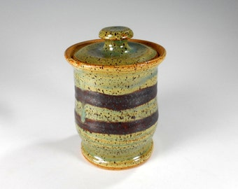 Ceramic sugar jar, pottery sugar bowl, ceramic sugar bowl, stoneware salt jar, sugar canister jar, salt cellar with lid, lidded sugar bowl