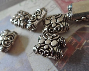 Silver strand separator bead genuine bali sterling silver strand separator high quality antiqued bali silver separator bail bead  swirl