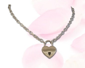 BDSM Day Collar, BDSM Collar, Submissive Collar, Discreet Day Collar, Slave Collar, Precious Little Heart Lock, BDSM Locking  Collar