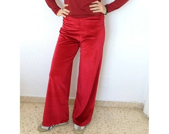Red Velvet Trousers