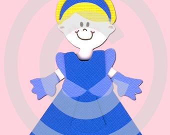Princess Cinderella Scrapbook Die Cut Paper Doll Disney Project Life