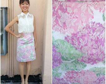 Vintage Skirt/ Pastel Embroidery Skirt/ XS Skirt/ Small Skirt/ Floral Skirt/ Pink Skirt/ Embroidery Skirt/ Mini Skirt/ Office Skirt/ Summer