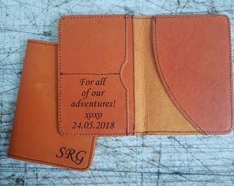 personalized engraved genuine leather passport cover, passport holder, travel wallet, passport wallet, engraved passport holder