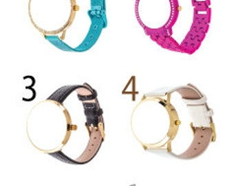Monogram Photo Logo Pic Customize Personalize Name Watch For Women Men Kids Gift Idea Christmas Birthday Valentine's Mother's Father's Day