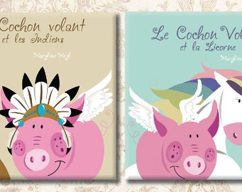 """set 2 book """"the flying pig"""""""