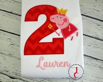 Peppa Pig Birthday Shirt - Girls Birthday Shirt, Boys Birthday Shirt, Birthday Outfit, 1st Birthday, Toddler Birthday, Peppa Pig Shirt