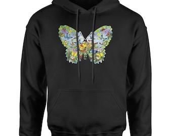 Butterflies Adult Hoodie Sweatshirt