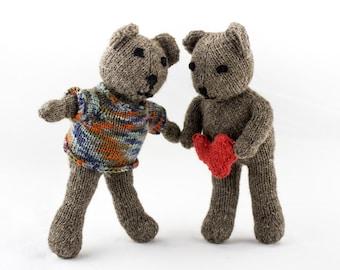 KNITTING PATTERN, Teddy Bear Knitting Pattern,Seamless Teddy Bear Knitting Pattern,, Soft Toy, Knitted Softie Pattern, Small Teddy Pattern