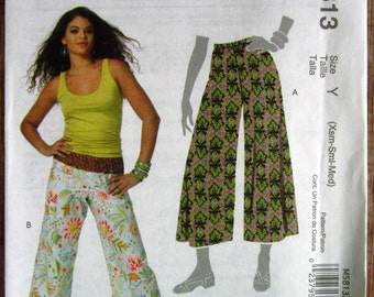 Easy Sew Misses Pull-On Pants in Two Lengths sizes XS S M McCalls Pattern M5813 UNCUT