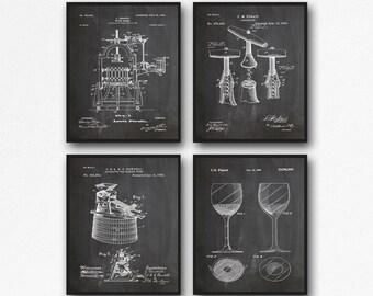 Wine Poster Decor Wine Wall Art Wine Kitchen Art Wine Prints Wine Decor Wine Bar Decor Wine Art Print Vintage Wine WB138