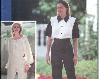 Butterick 5453 Glamour Collection Fast & Easy Misses Blouse and Pants Pattern Size 6-8-10-12 UNCUT