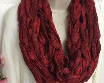 Buy1give1 Sparkly Red Sashay scarf infinity scarf