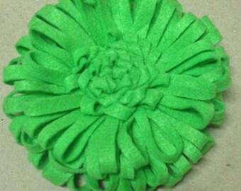 Felt Pin Brooch Flower Green