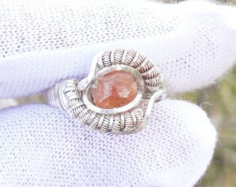 Hessonite Garnet Ring