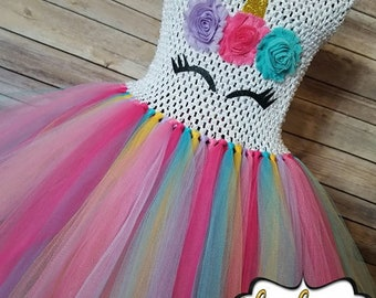 Gold Unicorn Birthday  Tutu dress | Unicorn tutu | Unicorn tutu dress | Unicorn party | Newborn-Adult listing