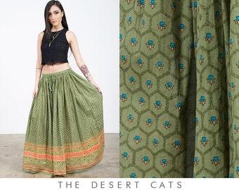 vintage 90s skirt vintage 1990s indian cotton gauze skirt by zero zero vintage boho bohemian gauze festival skirt