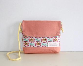 Little Bag, Children bag, Kids bag, Girls bag, Canvas Bag, Gift for Her, Gift for kids, Pink Bag, Floral Bag, Flowers Bag