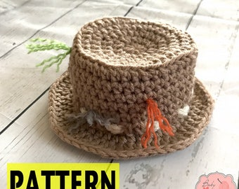 PATTERN ONLY Fishing Infant Newborn Baby Outfit Beanie Hat Fisherman Crochet Photography Photo Prop