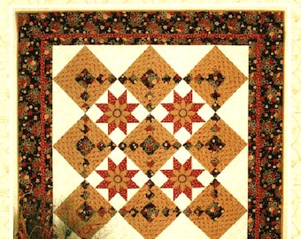 Sale Thimbleberries STAR FLOWER Pattern Wall Throw Quilt Lynette Jensen Christmas Holiday Rare