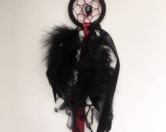 "2"" Black & Burgundy Dreamcatcher - CLEARANCE"
