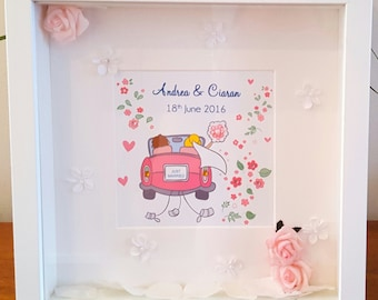 Personalised Wedding Gift Keepsake  Boxframe