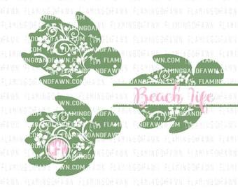 sea turtle svg, turtle svg files, Sea turtle dxf, sea svg, sea creatures svg, flourish turtle svg, floral turtle svg, floral sea turtle