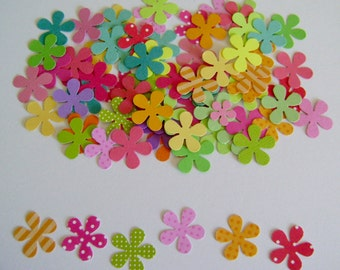 Five Petal Hand-punched Flowers