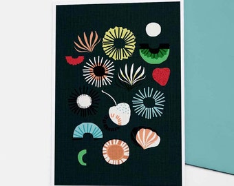 Seaflower - greetings card