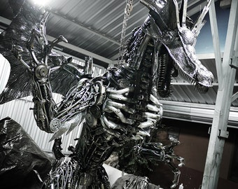 Recycled Metal Giant Dragon (made-to-order)